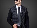 秋冬款男式外套批发 羊绒呢料中长款 商务立领 男士风衣大衣
