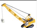 凯迪威合金工程车模型1:87塔式缆索挖掘车 特种吊车