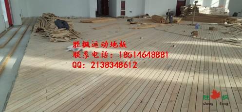 浙江台州篮球馆双层龙骨地板铺装,胜枫篮球木地板厂家