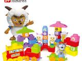 迪士尼授权产品喜羊羊正版益智积木小火车儿童早教玩具3岁以上
