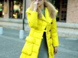 MISSFOFO 2013冬季新品大口袋中长款修身连帽羽绒服女装