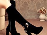 2014秋冬新款过膝靴长靴长筒靴粗跟冬靴