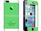 iphone5S电镀钢化玻璃膜镜面前后膜 苹果5超薄双面彩色保护贴膜