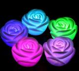玫瑰花小夜灯 七彩小夜灯 小玫瑰灯 led灯 创意促销礼品批发