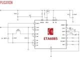 罗马仕用ETA6085 3A进2.4A放电二合一移动电源IC