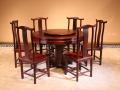 红酸枝书柜书桌圈椅图片