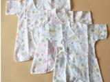 新生儿双层纱布蝴蝶衣 连体衣 哈衣 和尚服