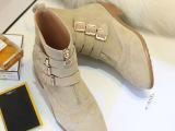 2014秋冬新款欧美欧洲站磨砂真皮低跟粗跟尖头短靴马丁靴短筒靴子