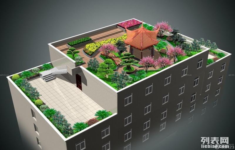 郑州屋顶绿化公司别墅楼顶花园设计施工