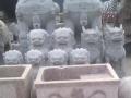石雕花盆旧石磨盘石槽