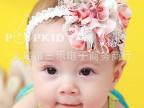 韩国 小碎花 花朵 蕾丝 宝宝发带 婴儿发饰 头饰 女童发饰15g