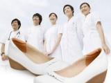 2014新款白色护士鞋3515强人坡跟真皮护士鞋 正品工装鞋 厂
