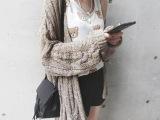 韩国代购2015秋季新款韩版时尚宽松百搭开衫休闲薄针织衫女式毛衣