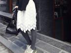 厂家直销早春装新款韩国东大门 浪漫唯美树叶镂空 纯色蕾丝半身裙