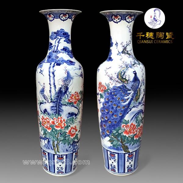 手绘装饰陶瓷大花瓶,装饰陶瓷大花瓶生产厂家