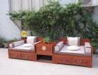 新中式实木双人床推拉两用床多功能实木床罗汉床沙发床