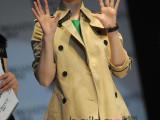 2014范冰冰明星同款欧美秋装新款双排扣大衣外套英伦系腰带风衣