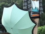 2013款点点大波浪蕾丝花边公主伞 折叠伞 可爱雨伞拱形阿波罗伞