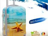 可爱海螺海星个性小动物图案拉杆箱登机箱PC旅行李箱小清新学院箱