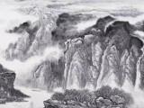 河南山水风景画著名大师-吴优
