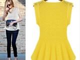 新款夏季修身蕾丝衫上衣小背心裙打底小t恤衫大码C77899