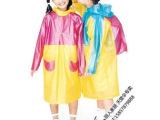 天堂正品卡通儿童雨衣 雨披 小学生雨衣 小孩雨衣带书包位