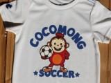 韩国依恋童装外贸原单尾货coco儿童速干上衣