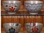 """和田烧创意日韩式特价和风手绘潮州外贸陶瓷餐具4.5""""和风米饭碗"""