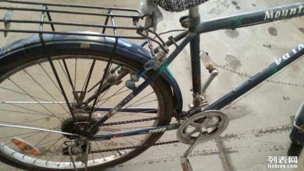 转让自用26寸变速自行车,铝合金车盘,铝合金闸
