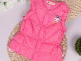厂家批发冬季新款童装 韩版甜美90绒内胆儿童羽绒服 儿童马甲外套