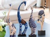 大象猫装饰品摆设家居现代艺术创意客厅玄关电视柜摆件树脂工艺品