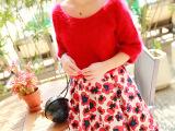 2014秋冬装新款女装裙子梨花同款复古花朵印花半身裙