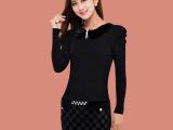 韩依优品2014春季新款女装PU皮裙高端正品欧美大牌修身包臀连衣