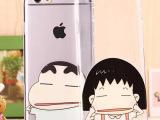 透明卡通iPhone6 plus手机壳 苹果5s超薄捏嘴浮雕TP