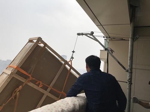 上海吊装家具上楼 高层吊沙发 别墅吊玻璃 吊装实木大板公司
