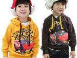 秋款新品 韩版抓绒厚款汽车总动员儿童卫衣 童上装 厂家童装批发