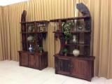 老船木办公展示柜文件柜商品展示柜玻璃柜酒柜实木书架货架