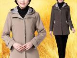中老年女装秋装外套40中年妇女士妈妈装50岁中长款加大加肥风衣6