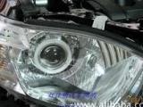 丰田汉兰达大灯改装透镜氙气灯、高亮天使眼