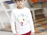 秋冬季外贸童装长袖T恤 韩版纯棉儿童打底衫厂家批发