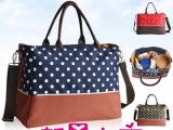 时尚大容量手提妈咪包分隔多功能单肩妈妈包袋便携斜跨孕妇待产包