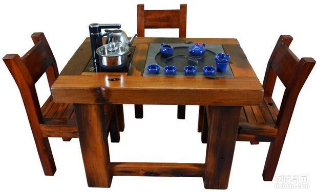 老船木客厅泡茶桌实木平板茶台个性茶桌茶几厂家直销定做