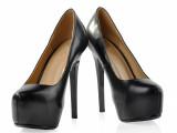 春款女式单鞋新款真皮高跟女鞋 圆头女鞋子 真皮单鞋欧美风格批发