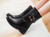 2014秋冬新款英伦马丁靴潮流机车短靴保暖妈妈鞋女中筒中跟靴子潮