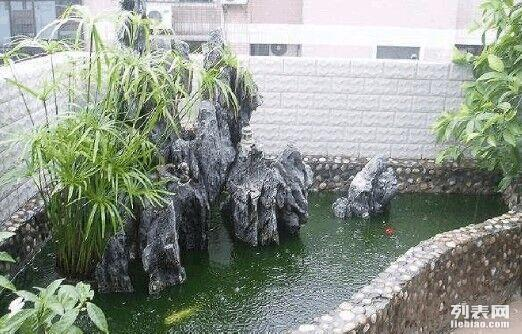 中西鱼池坪地小桥水流花园路牙庭院喷泉铺设小路