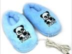 批发USB熊猫鞋 USB保暖鞋暖脚宝 USB发热鞋 USB优贝生活厂家批发