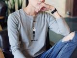 新款男装长袖T恤,纯棉统一面料,时尚新潮,批6.3元