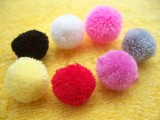 开司米毛球毛线球水貂球皮草衣服玩具配件冒顶球厂家直销