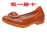 温州夏季新款潮真皮女单鞋平底浅口女式鞋一件代发购鞋小辣椒女鞋