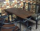 销售工业风新款实木桌椅 置物架 吧台吧椅定做